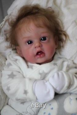 Reborn Baby Doll Mae Louise (Cuddle with Vinyl Head, Soft Cloth Limbs and Body)