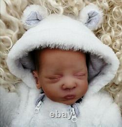 Reborn Baby Ethnic / Biracial Romy by Gudrun Leger with COA (Shropshire Reborns)