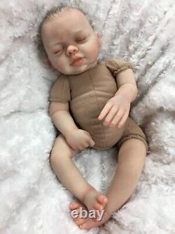 Reborn Baby Girl Art Doll Made From Amber Sculpt Heavy Authentic Reborn Uk