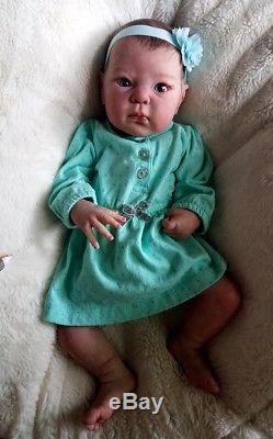 Reborn Baby Girl Daniella DIMITRI sculpt by Adrie Stoete Lifelike Doll COA
