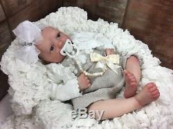 Reborn Baby Girl Doll Painted Hair Realborn Zuri Baby Open Eyes 19-20 Inches