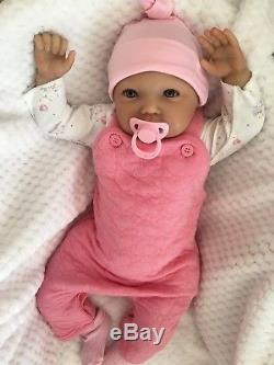 Reborn Baby Girl Doll Wide Awake Libby Realistic Hand Painted 22 Newborn