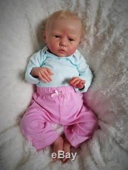 Reborn Baby Girl LE Ellie Sue by Bonnie Brown Realistic Doll Micro Rooted Hair