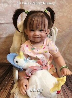 Reborn Baby Toddler Girl RAYA by PING LAU Beautiful NEW SCULPT WithCOA