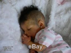 Reborn Baby Uriah Biracial AA Ethnic African Black Doll