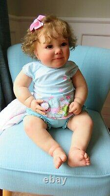 Reborn Baby girl doll June from Realborn Bountiful Baby kit with COA