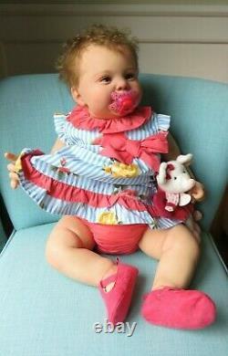 Reborn Baby girl doll Kodi Bear kit, Sculpt by Laura Tuzio-Ross 25 with COA