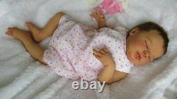 Reborn Baby girl doll Valentina kit Sculpted by Elisa Marx with CoA