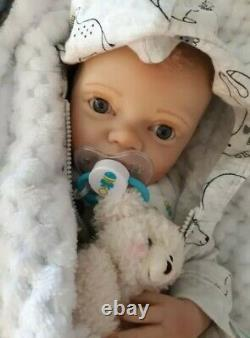Reborn Baby with pacifier and bottle