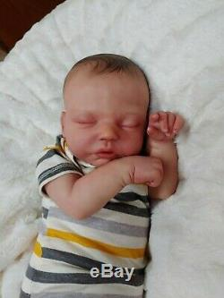 Reborn Big Baby Boy Robin Asleep by Nikki Johnston Special Edition Doll