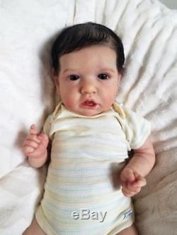 Reborn Big Baby Boy Saskia by Bonnie Brown Realistic Doll Micro Rooted Hair