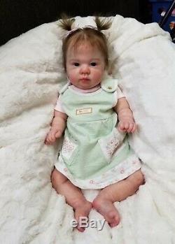 Reborn Big Baby Girl Crystal by Denise Pratt Bountiful Baby Lifelike Doll