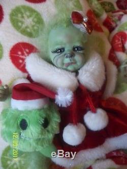Reborn Christmas Holiday Green Artist Baby Doll Yeti