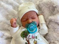 Reborn Doll Baby Newborn Size Ruby Realborn Painted Hair Just Born Baby Crier