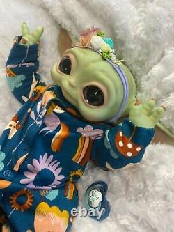 Reborn Fantasy Art Doll Star Wars The Mandalarion Baby Yoda Outfit Will Vary