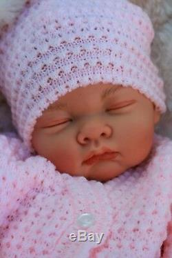 Reborn Girl Doll Pink Knitted Spanish Outfit Butterfly Babies S016