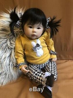 Reborn Gorgeous Asian Baby Toddler Girl Doll