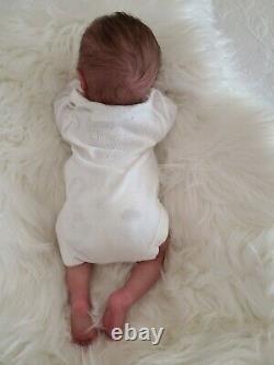 Reborn Preemie baby doll Aria asleep by Bountiful Baby