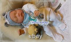 Reborn Reallife Baby Boy BS v. U. L Krautter, wie echt! Babypuppe Puppe