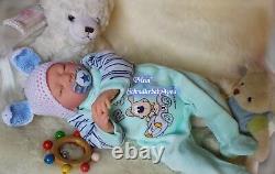 Reborn Reallife Baby Boy Häschen U. L Krautter Babypuppe Oster Hase Geschenk