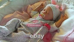 Reborn Reallife Baby Girl Oster Hase Bunny U. LKrautter Babypuppe Geschenk