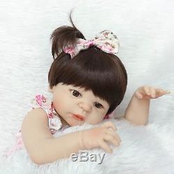 Reborn Silicone Girl Doll Real Baby Lifelike Newborn Full Handmade Toddler 22in