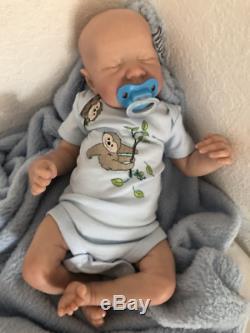 Reborn Sleeping Baby Boy Doll, Limited Ed. Levi By Bonnie Brown