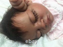 Reborn Sleeping Biracial Ashia- Therapy for Alzheimer's, Kids & Special Needs