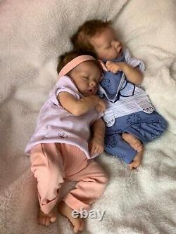 Reborn Twin B By Bonnie Brown Girl (Twin With Pink clothes Only)