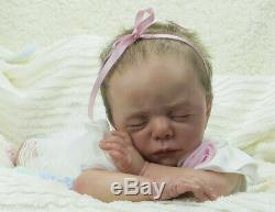 Reborn art doll Luise from the limited edition sculpt by Karola Wegerich