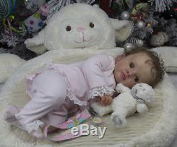 Reborn art doll baby girl from the LE Tutti sculpt by Natali Blick