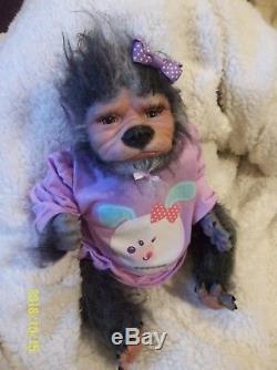 Reborn baby WEREWOLF artist doll horror mythical animal WEREPUP LIMITED EDITION