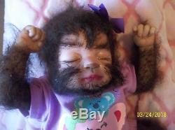 Reborn baby WEREWOLF artist doll hybrid horror fantasy mythical animal monster