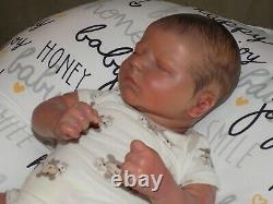 Reborn baby boy newborn Quinn asleep