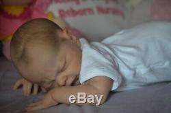 Reborn baby doll Adrie Stoete sculpt Nina by Artist Kelly Campbell