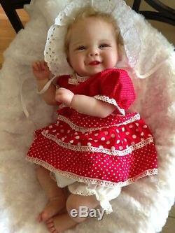 Reborn baby doll Vivienne by Sandy Faber 20 5 lbOrange Blossom Nursery