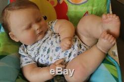 Reborn baby doll sweet newborn baby boy James with 3d skin OOAK