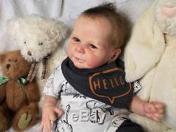 Reborn baby dollEthanCassie BracePEEK-A-BOO NurseryJanet Henderson