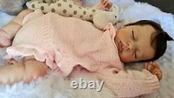 Reborn baby girl Beautiful hand painted and rooted realistic doll