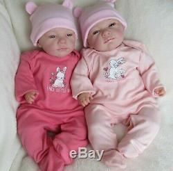 Reborn baby girl doll, Beautiful Vicky 18 4lbs newborn open blue eyes