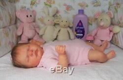 Reborn baby girl dollROMILLYCassie BracePeek-A-Boo Nursery Janet Henderson
