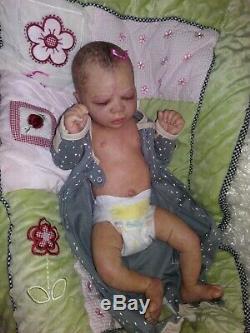 Reborn doll Nicole Russell's AZRAYA baby girl/ FULL BODY Junebird Nursery READY