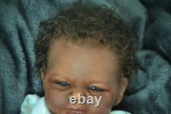 Reborn ethnic biracial Baby Doll LE ELIJAH Reborn by artist Kelly Campbell