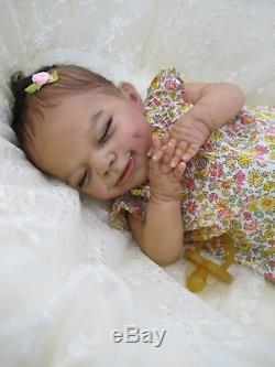 Reborn ethnic girl doll realistic April Joanna Kazmierczak. Marina Kuznetsova