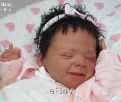Rjbour Joe Bourland biracial BABY Ara REBORN April Kazmierczak Play Doll Boo Boo