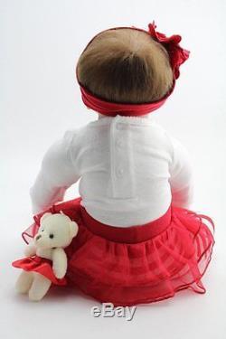 Silicone Reborn Baby Lifelike Girl Doll Lil Helper Baby Alive Stuffed Body 22