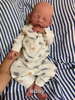 Silicone baby boy Bridger. Ready to Ship! Full body soft silicone. By Caroline