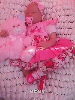 Soft Silicone Vinyl 22 6lbs New Reborn Baby Girl Doll Lifelike Sunbeambabies