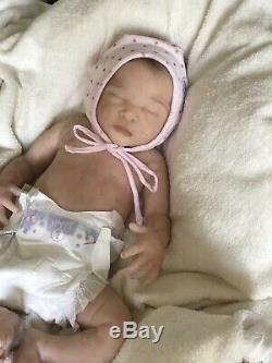 Soft silicone full body baby girl doll Emma #2 Eco Flex 00-30