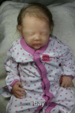 Soft silicone full body baby girl doll Silvia #3 Eco Flex 00-30+00-10